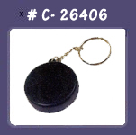 Hockey Puck Stress Key chain