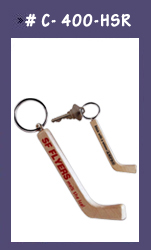 customized hockey puck key chains custom printed hockey stick key chains promotional hockey. Black Bedroom Furniture Sets. Home Design Ideas